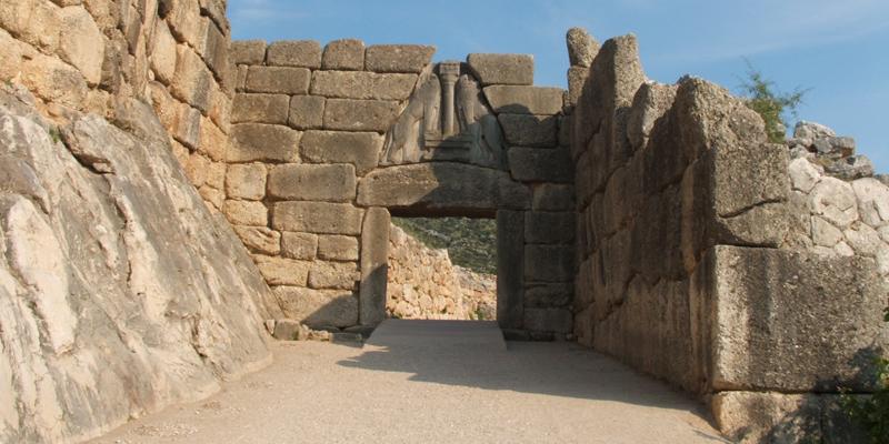 Micene grecia sito archeologico del peloponneso - La porta dei leoni a micene ...
